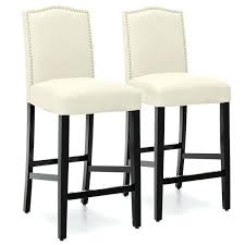 counter height bar stools with backs set of 2 faux leather counter height bar stools w studded trim back wood counter height bar stools with backs
