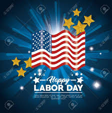 labor day theme flag of labor day in usa theme vector illustration royalty free