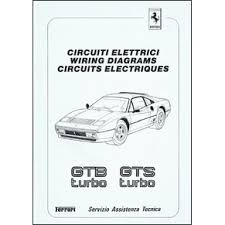 wiring diagrams pdf ferrari automobilia maranello literature 17 25 1986 ferrari 208 gtb gts turbo wiring diagrams 439 86 pdf it