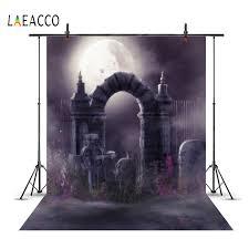 <b>Laeacco Moon</b> Arch Door Fence <b>Castle</b> Child Dark Night Scenic ...