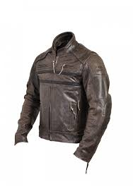 men s classic vintage motorcycle cafe racer style distressed leather jacket