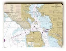 Ca Entrance To San Francisco Bay Ca Nautical Chart Sign