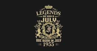 Iuly Size Chart Kings Legends Are Born In July 1955 By Shoptshirtpro