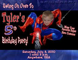 Spiderman Birthday Invitation Templates Free Best Photos Of Spider Man Birthday Card Template Spider