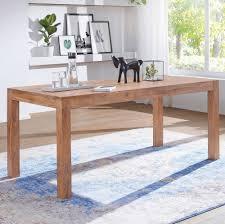 Finebuy Esstisch Massivholz Akazie Esszimmertisch Küchentisch