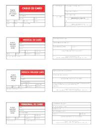 Child Id Card Template Free