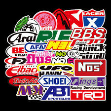 50PCS Vinyl <b>JDM Stickers Pack</b> Motorcycle Racing <b>Car</b> Motocross ...