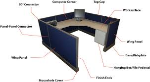 Office desk components Workstation Diagram Of Herman Miller Ao1 Components The Container Store Cubicles 101
