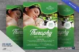 Spa Brochure Template Enchanting Massage And Spa Services Flyer Flyer Templates Creative Market