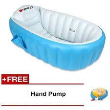 choo choo toy inflatable baby bath tub portable bathtub free hand pump
