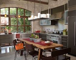 and oakgives this kitchen its appealing rustic-industrial character.