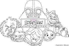 Angry Birds Star Wars Free Coloring Pictures Angry Birds Star Wars