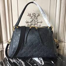 3a lv m43719 handbag louis vuitton ponthieu monogram bag black real leather pm zipper