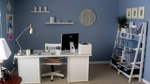 work desk ideas white office. Home Office Decoration Ideas Fresh Decorating Furniture With Cool Blue Wall Work Desk White