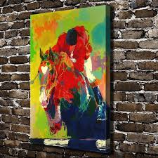a1814 leroy neiman abstract horse racing knight hd canvas print home decoration living room bedroom