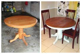 dining table diy spray paint and stain kitchen table