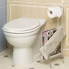 Chrome Toilet Paper Holder Magazine Rack Free Standing Chrome Toilet Roll Holder Magazine Rack Bathroom 70