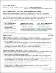 Resume For Logistics Specialist Hotwiresite Com