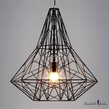 vintage style large cage pendant light with reel iron beautifulhalo com