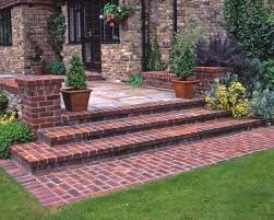Detail - Natural brick step detail (Patio Step From House)