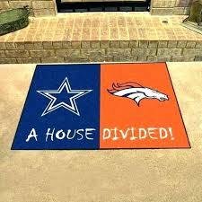rugs dallas cowboys area rugs cowboys floor mats cowboys broncos house divided all star area rug
