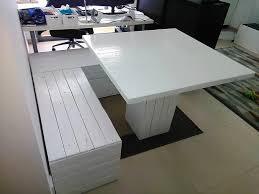 wooden pallet furniture. Repurposed Wood Pallets White Colored Fu. Wooden Pallet Furniture