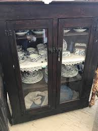 antique display cabinets with glass doors far fetched pine cabinet vintage home ideas 41