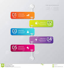 Process Steps Vector Timeline Process Steps Labels Template Background Stock