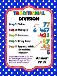 Division Steps Anchor Chart Division Anchor Chart Worksheets Teaching Resources Tpt