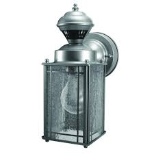 heath zenith shaker cove mission 150 degree silver motion sensing outdoor lantern hz 4133 sv the home depot