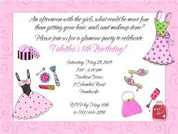 Birthday Party Invitation Glamour Girl Makeup Dress Up Birthday Party Invitations Glamour