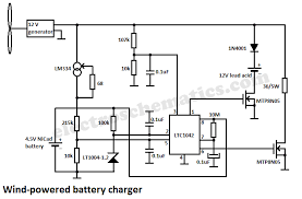 wind powered battery charger circuit schematic