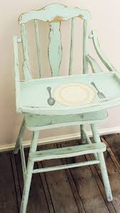 baby furniture ideas. namely original vintage painted high chairs love the place setting that is on baby furniture ideas