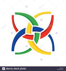 Harmony In Design Unity In Harmony Symbol Design Stock Vector Art