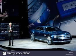 ford president car. ford vice president and chief creative officer j mays introducing the interceptor concept car at naias 2007