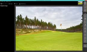 open your golf course image up in smart photo editor
