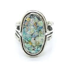Items similar to <b>Roman</b> Glass Jewelry, <b>925 Sterling Silver</b>, Israeli ...