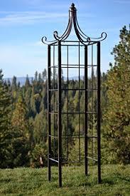 garden obelisk trellis. H Potter Trellis Wrought Iron Ornamental Large Garden Obelisk For Climbing Plants B