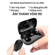 Tai nghe Bluetooth 5.0 L21 Pro bản Quốc Tế âm thanh vòm 9D, Tai nghe không  dây TWS
