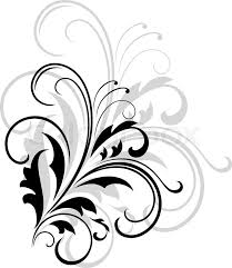black and white backgrounds with designs. Contemporary Black Simple Black And White Swirling Foliate Design With A Larger Repeat Pattern  In Grey Behind On Background  Stock Vector Colourbox On Black And White Backgrounds With Designs P