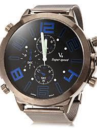 big face watches men lightinthebox com men s big dial design round dial alloy band quartz analog fashion watch cool watch unique watch