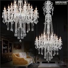 ceiling lights outstanding dark 2 meter luxury long design big crystal chandelier lighting clear