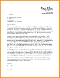 sample cover letters teachers sample cover letter for teaching position kays makehauk co