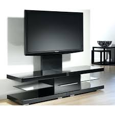 modern metal tv stand m black polished metal stand with mount and glass shelves using chrome