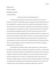 philosophy essay skinner vs descartes stewart shelby  6 pages philosophy essay 2 fodor vs dennett