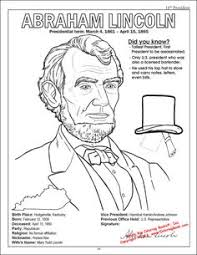 Small Picture Abraham Lincoln Coloring Page SS Patriotic Pinterest Abraham
