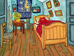 Painting The Bedroom Interior Bedroom Ines Painting Of Man Enjoying By Vincent Van