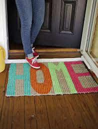 colorful welcome mat.  Colorful Diy Welcome Mat In Colorful Welcome Mat M