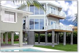 Piling  pier  stilt houses hurricane  amp  coastal home plansHurricane proof two story stilt house design built in the Florida Keys   panoramic views