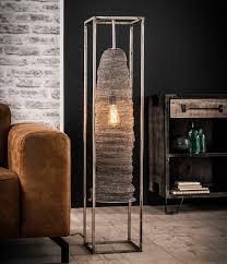 Industrieel Vloerlamp Rechthoek Mesh Hangend
